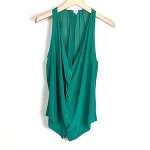 Aritzia Wilfred Silk Button Down Sleeveless Blouse